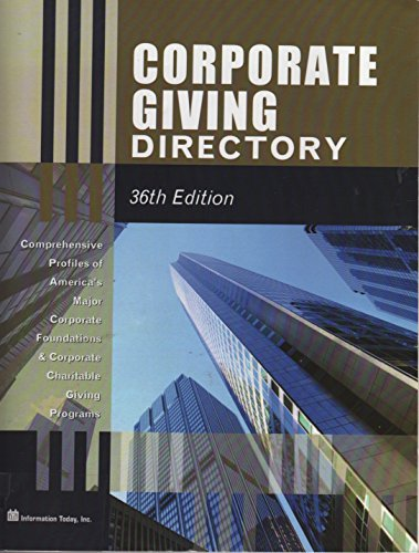9781573874939: Corporate Giving Directory (Taft Corporate Giving Directory)
