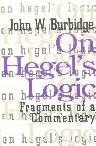 9781573922845: On Hegel's Logic