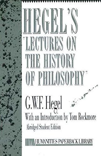 9781573924801: Hegel's Lectures on History of Philosophy