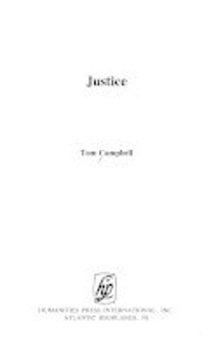 9781573925969: Justice