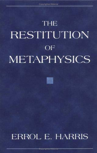 9781573926638: The Restitution of Metaphysics