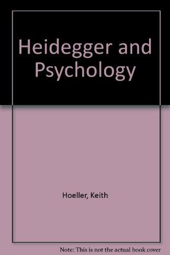 9781573926751: Heidegger and Psychology