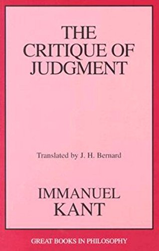 the view of art in kants the critique of judgement Although kant saw the critique of judgment as the key work which  the object  being contemplated (eg, a work of art, or an actual landscape) must display a.