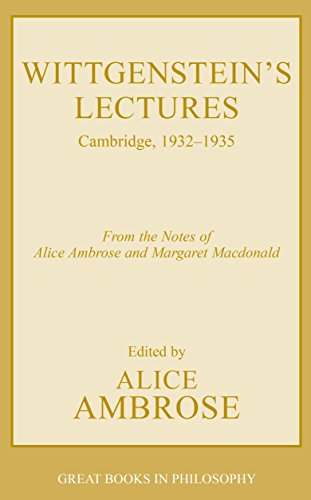9781573928755: Wittgenstein's Lectures: Cambridge, 1932-1935 (Great Books in Philosophy)