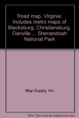 Road map, Virginia: Includes metro maps of: Map Supply, Inc