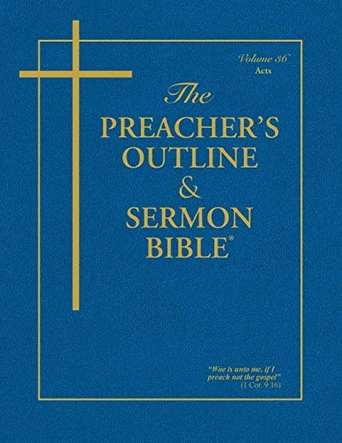 Preacher's Outline & Sermon Bible-Kjv-Acts