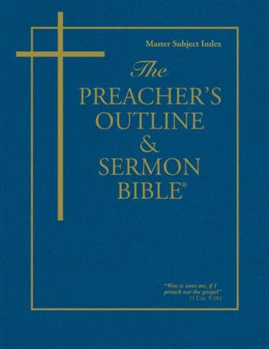 9781574070149: The Preacher's Outline & Sermon Bible: Master Subject Index KJV