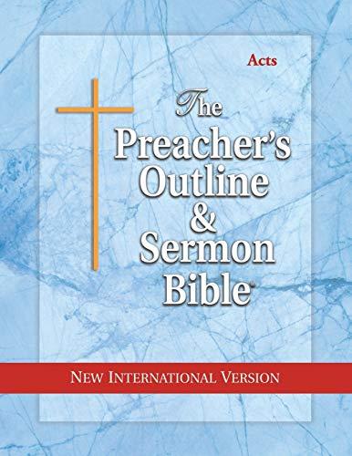 Preacher's Outline & Sermon Bible-NIV-Acts (Paperback): Leadership Ministries Worldwide
