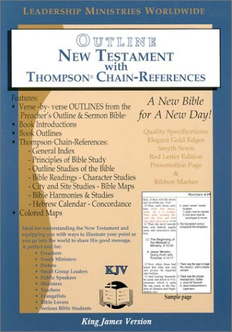 9781574071481: Outline New Testament Bible with Thompson Chain-Reference-KJV