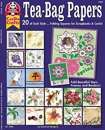 9781574212037: Tea-Bag Papers: 20 of Each Stylefold Beautiful Stars, Frames And Borders