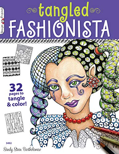 9781574213492: The Tangled Fashionista: 32 Pages to Tangle & Color (Design Originals)