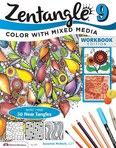 9781574213942: Zentangle 9, Workbook Edition: Color with Mixed Media (Design Originals)