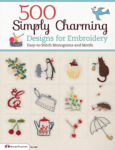 9781574215090: 500 Simply Charming Designs for Embroidery: Easy-to-Stitch Monograms and Motifs (Design Originals)