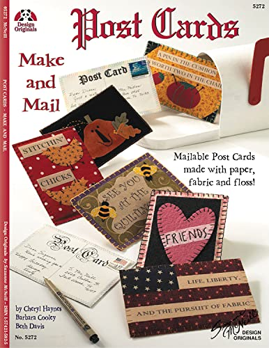 9781574215823: Postcards: Make and Mail: Mailable Post Cards Made with Paper, Fabric and Floss! (Design Originals)