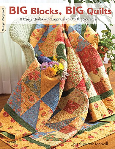 9781574216455: Big Blocks Big Quilts: 11 Easy Quilts With Layer Cake Squares (Design Originals)