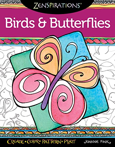 9781574218701: Zenspirations Coloring Book Birds & Butterflies