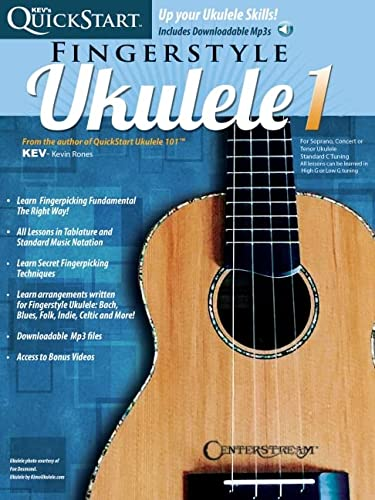 Kev's Quickstart for Fingerstyle Ukulele (Book/Cd): Rones, Kevin