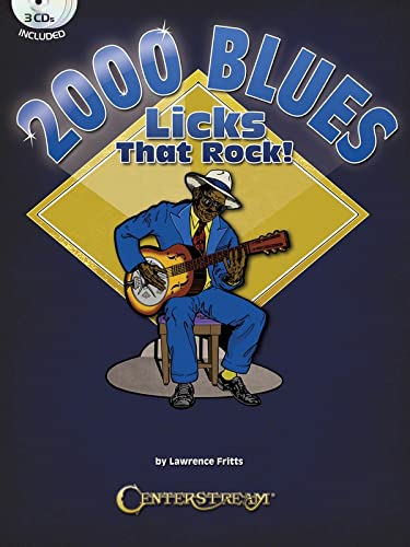 9781574242850: 2000 Blues Licks That Rock - Book/3 CDs