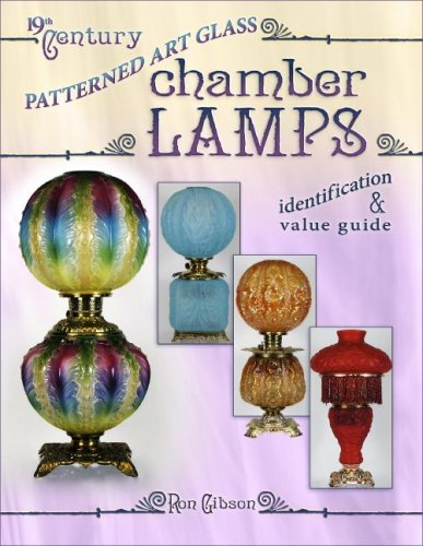 19th Century Patterned Art Glass Chamber Lamps: Gibson, Ron
