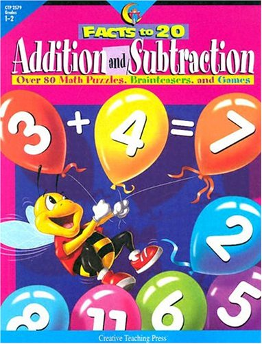 9781574718195: Addition & Subtraction Facts to 20: Over 80 Puzzles and Games