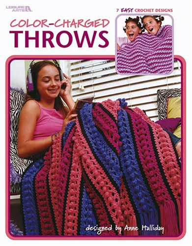 9781574868579: Color-Charged Throws (Leisure Arts #3528)