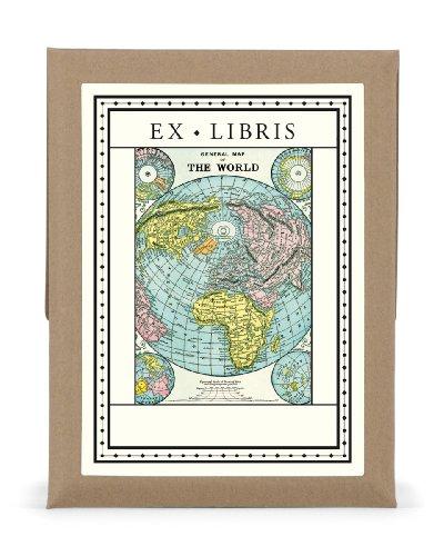 9781574890686: World Map Bookplates