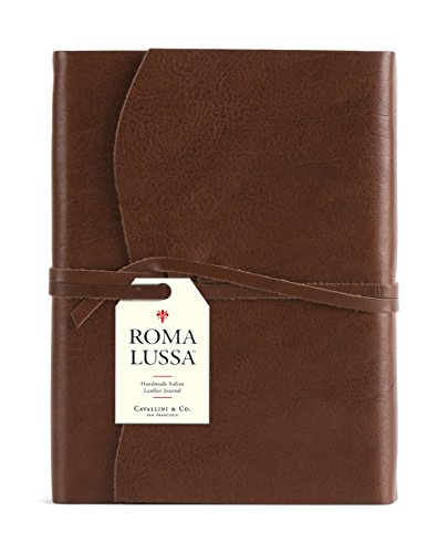 9781574892611: Roma Lussa Leather Journal Chocolate
