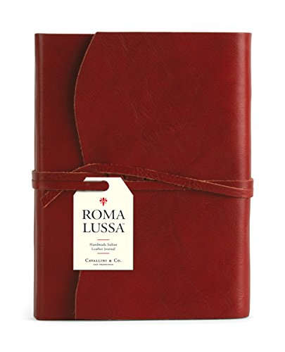 9781574897623: Roma Lussa Leather Journal Red