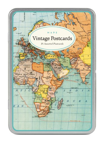9781574897715: Vintage World Maps Carte Postale Postcards