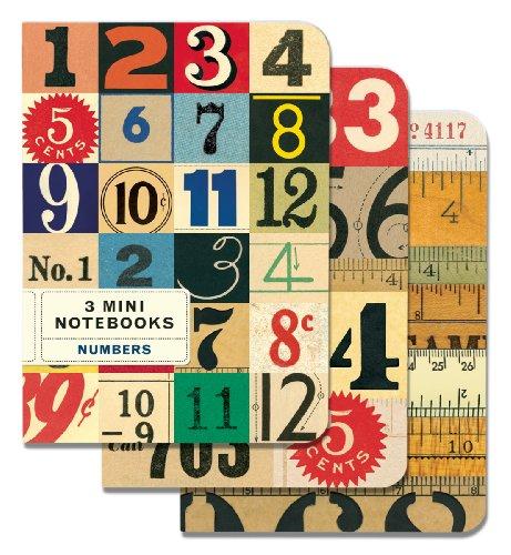 9781574898897: Cavallini Mini Notebooks Numbers 4 x 5 3 Mini Notebooks