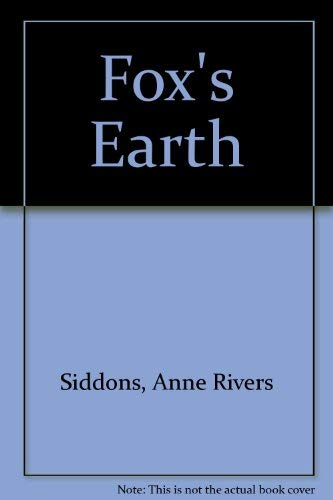 Fox's Earth (Large Print): Siddons, Anne Rivers