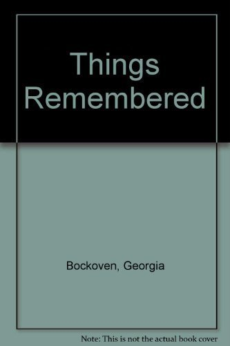 9781574901955: Things Remembered