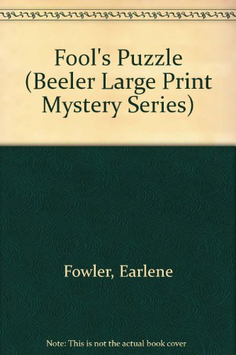 9781574902112: Fool's Puzzle (Beeler Large Print Mystery Series)