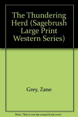9781574904116: The Thundering Herd (Sagebrush Large Print Western Series)