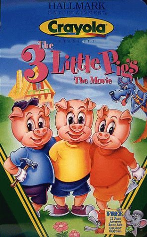 9781574925609: Crayola Presents - The Three Little Pigs - The Movie [VHS]