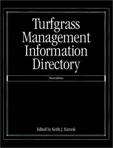 9781575041483: Turfgrass Management Information Directory, 3rd Edition
