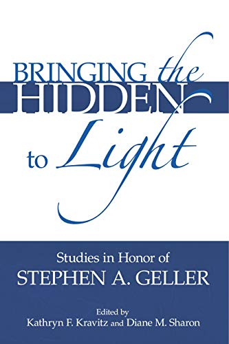 Bringing the Hidden to Light: The Proces Studies in Honor of Stephen A. Geller