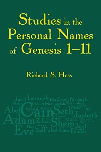 Studies in the Personal Names of Genesis