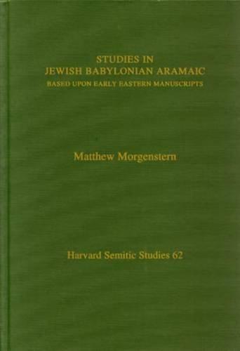 Studies in Jewish Babylonian Ara HSS62