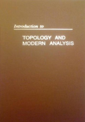 9781575242385: Introduction to Topology and Modern Analysis