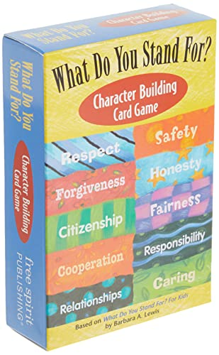 What Do You Stand For?: Character Building Card Game 9781575422176 Turn learning into a game and kids will want to play. Based on What Do You Stand For? For Kids by Barbara A. Lewis, this card game spotl