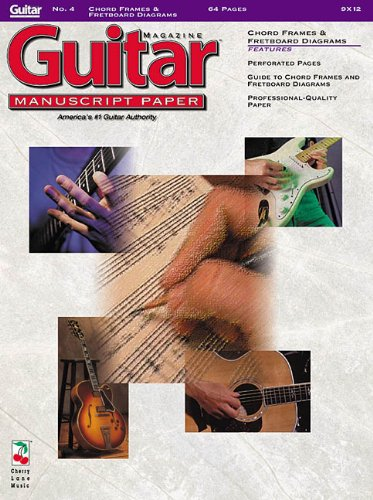 9781575601892: Guitar(TM) Magazine Manuscript Paper - #4 Chord Frames and Fretboard Diagrams - 9 inch. x 12 inch.: Guitar Manuscript Paper