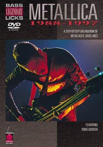 9781575605401: Cherry Lane Metallica - Bass Legendary Licks 1988-1997 (DVD)