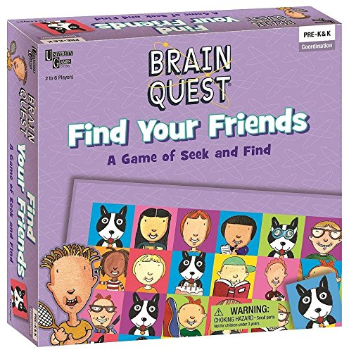 9781575616896: Brain Quest - Find Your Friends: A Game of Seek and Find, Pre-k & K