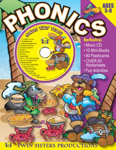 Phonics 96pg Workbook & Music CD Set: Twin Sisters Productions