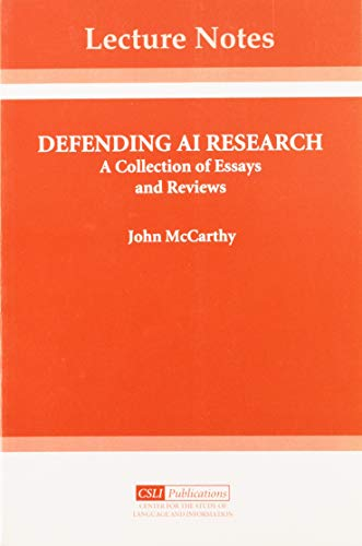 9781575860183: Defending AI Research: A Collection of Essays and Reviews (Lecture Notes)