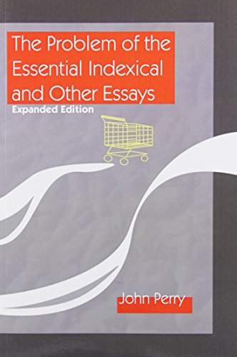 9781575862699: The Problem of the Essential Indexical and Other Essays, Expanded Edition