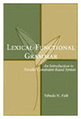 9781575863412: Lexical-Functional Grammar: An Introduction to Parallel Constraint-Based Syntax (Lecture Notes)