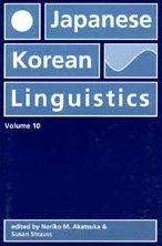 9781575863436: Japanese/Korean Linguistics: Vol 10 (CSLI Stanford Linguistics Association)