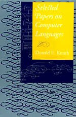 Selected Papers on Computer Languages Format: Hardcover: Donald E. Knuth
